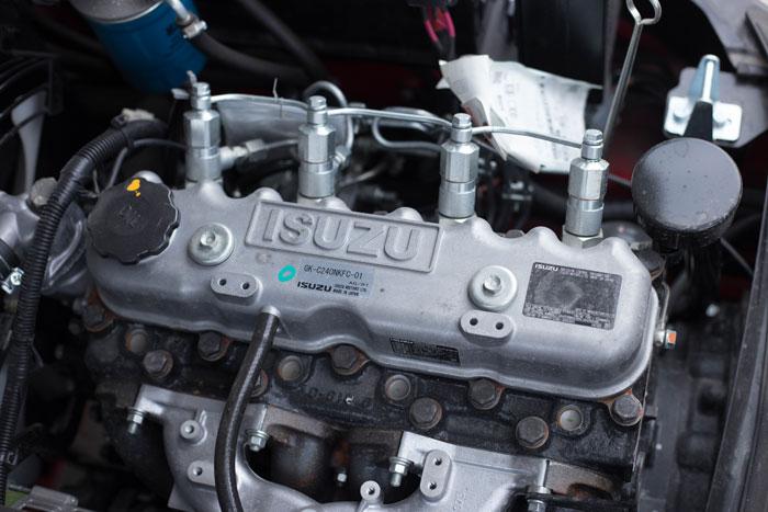 Khối động cơ Isuzu mạnh mẽ là trái tim của xe nâng dầu HangCha