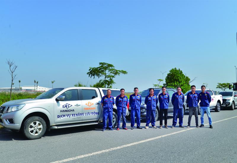 Đội ngũ kỹ thuật Công ty CP Xe Nâng Thiên Sơn