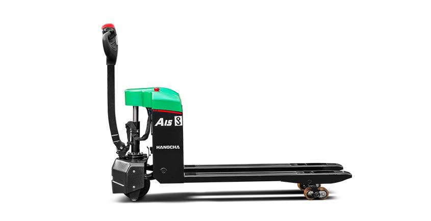 Xe nâng tay điện thấp (pallet truck) 1.5 tấn dùng pin Lithium