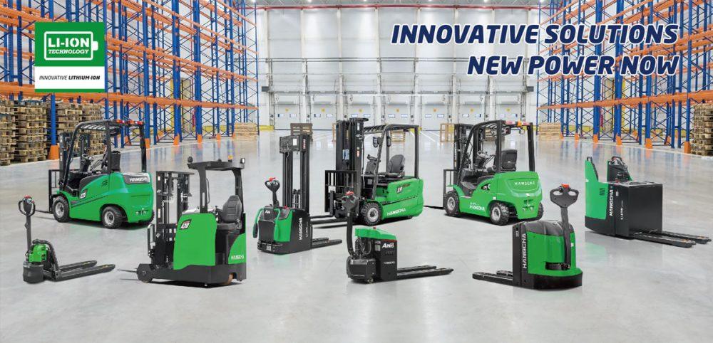 Xe nâng điện Lithium HangCha - giải pháp mới thân thiện với môi trường