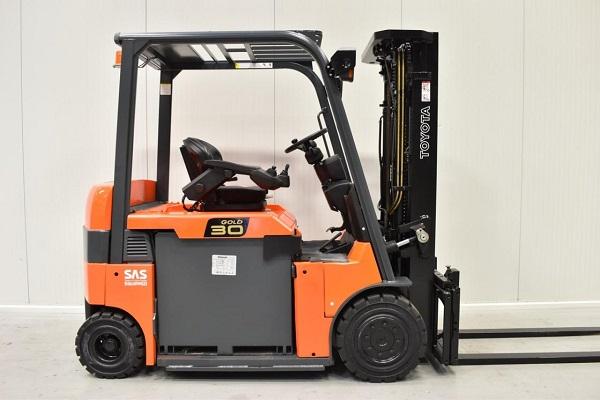 Xe nâng điện Toyota 3 tấn 6FB30 Nhật Bản
