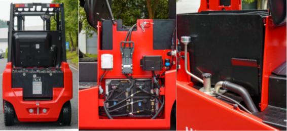 Hệ thống ắc quy điện trên xe nâng điện 1.5 tấn HangCha
