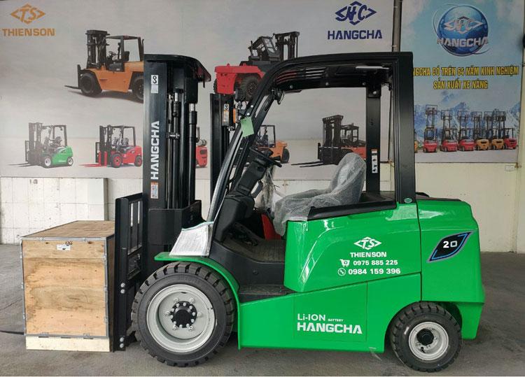Xe nâng điện ngồi lái 2 tấn dòng AE sử dụng pin lithium