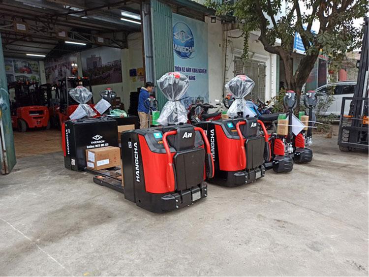Xe nâng điện pallet truck tích hợp bàn đứng